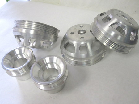 4 Groove Water Pump Pulleys : see pictures none