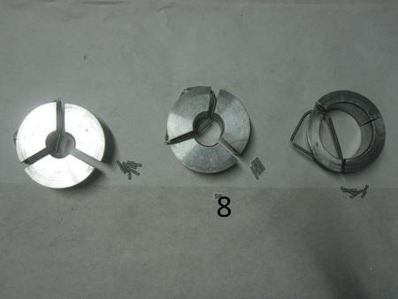 3 piece aluminum 101.60mm : 1.5000 DIA  38.10mm 2.000 DIA  50.80mm 4.000 DIA 101.60mm  1.5000 DIA  38.10mm 2.000 DIA  50.80mm 4.000 DIA 101.60mm