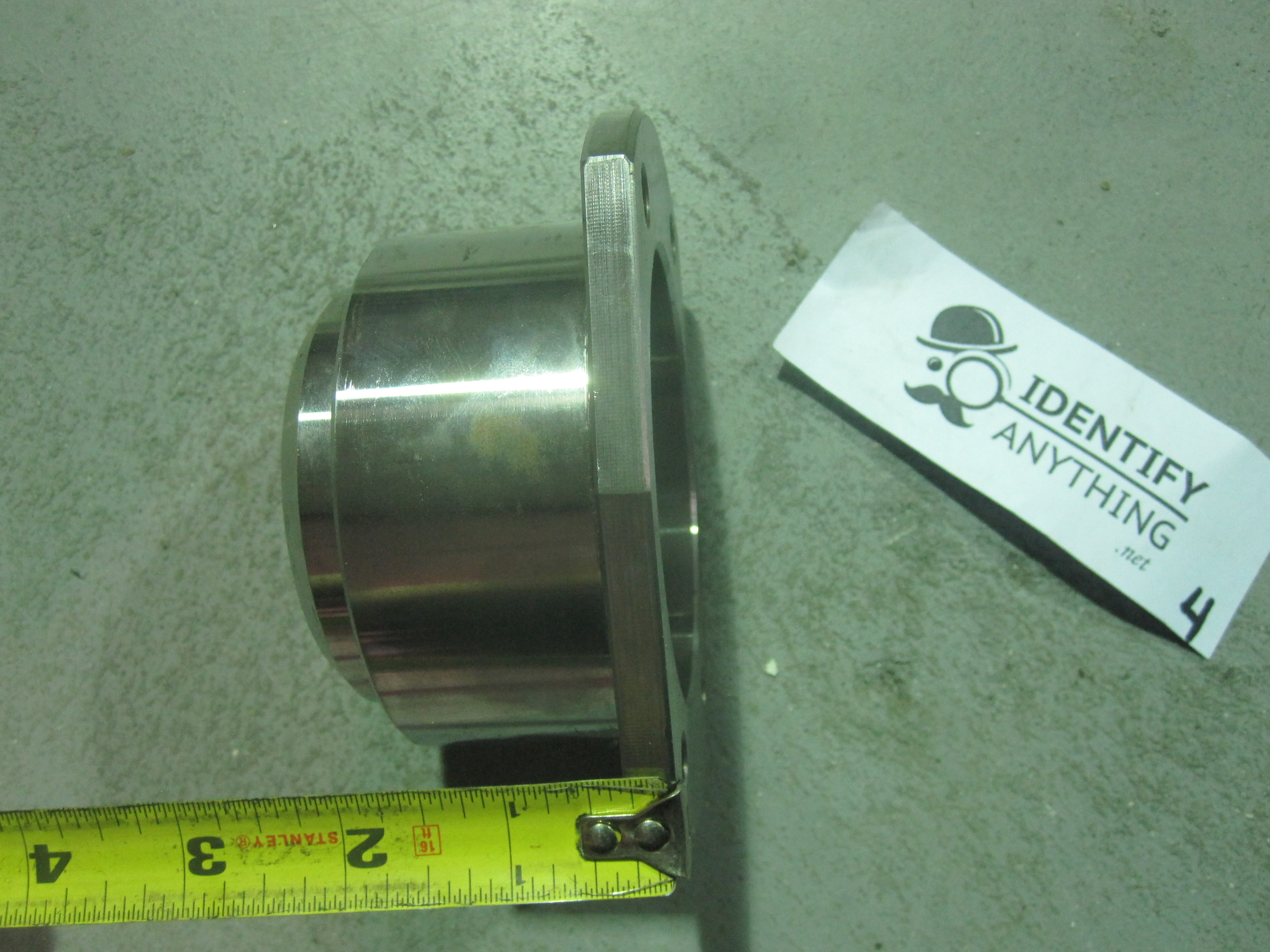 This is a custom made axle tube flange (for the brake