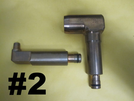 """Copper Valves w/ 5/8"""" Male Quick Connect Fittings  : See photographs:  5"""" & 4-5/8""""  See photos."""