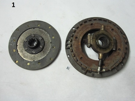 """Pressure Plate and Clutch : 10 spline. 8"""" clutch Cl-4491 N.14105 CL 2346"""