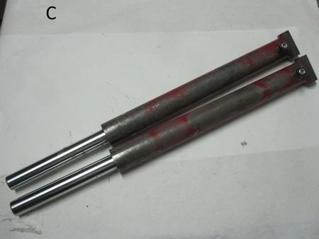 """Hydraulic Cylinders : 33"""" long, 1"""" mount hole, 22"""" body, 1-1/2"""" shaft,  BA-0554 NC 181001 L38478"""