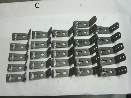 "chassis brackets fabrication bolt on : 5 x 4 x 2"" none"