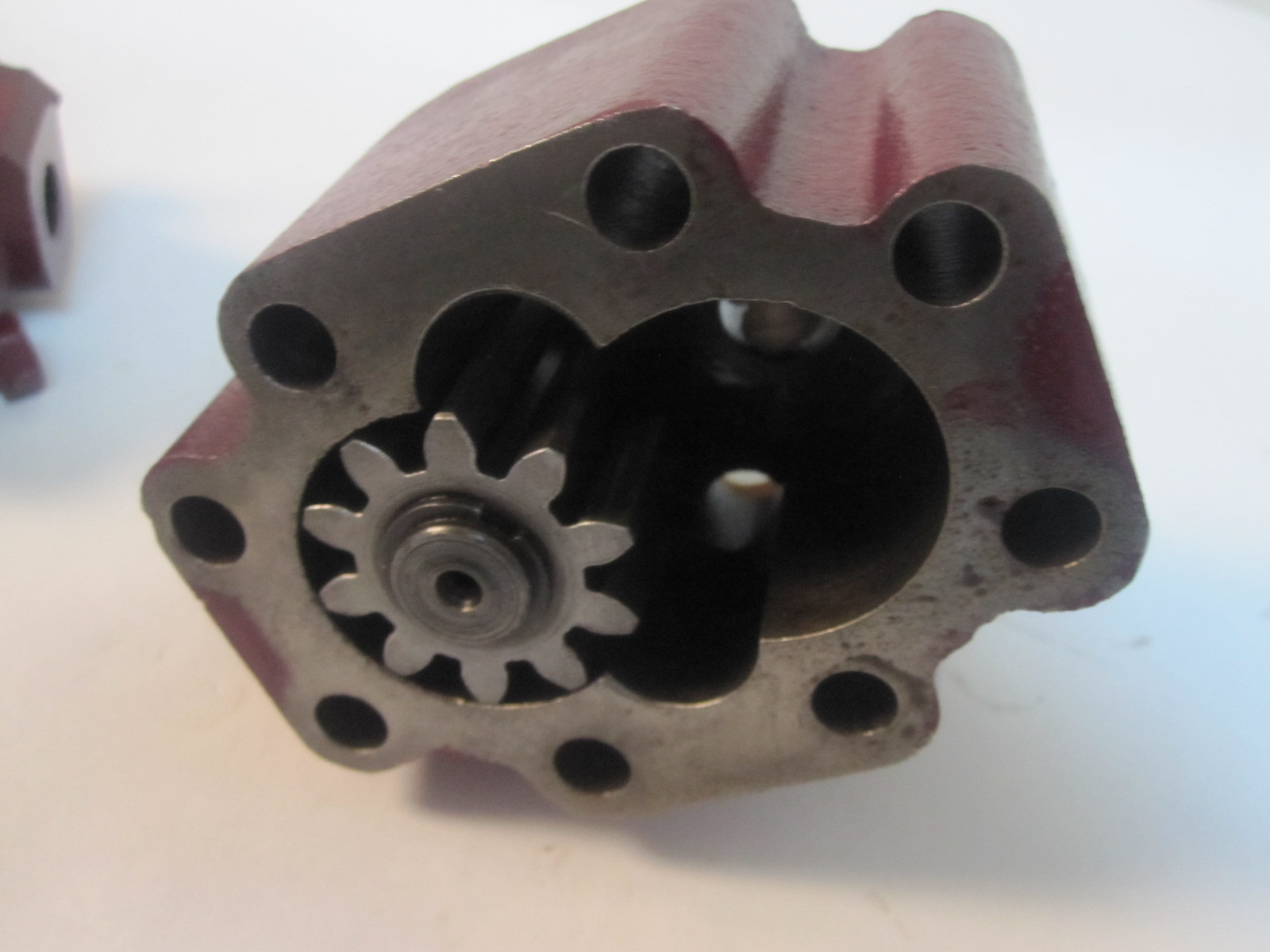 This is a vintage MG sports car oil pump. It fits the TD ...