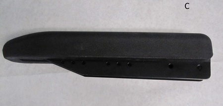 "Rubber Bumper guard? arm rest? : 15-1/2"" long none"