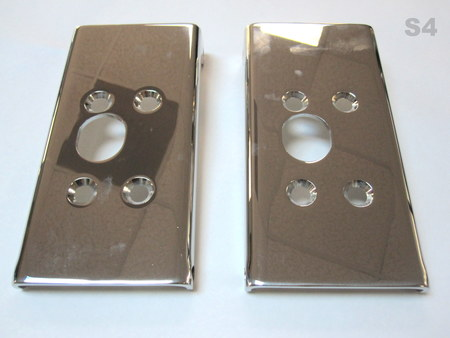 "Chrome Stainless Steel  Brackets : 9"" x 4.75"" na"
