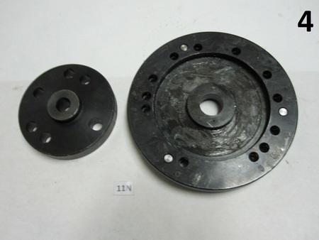 "Help Identify ? Chuck backing plate? : 7-5/8 diameter and 4-3/4"" diameter  4-6 654 65"