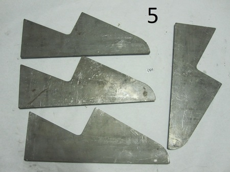 "Weldon chassis Brackets  : 14-1/2"" long none"