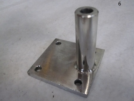 """Stud with base : base"""" 2-5/8"""" x 2-5/8""""  stainless steel none"""