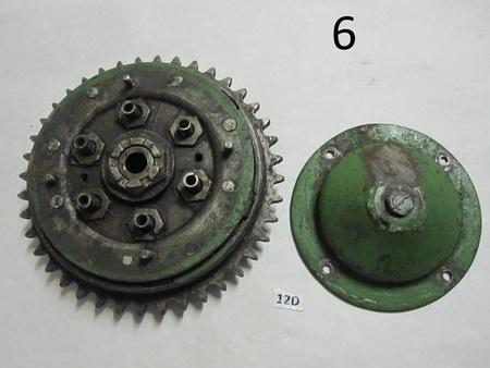 "John Deere Clutch : 40 teeth, about 9"" in diameter  none"