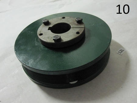"""harmonic balancer pulley : 8 groove 8"""" OD, 1-5/8 bore none"""