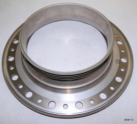 """Silver Flange : 10-1/2"""" outer diameter. 6"""" inner diameter. 99193-3035595-1 SN20-162246-02951"""
