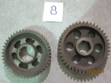 "timing gears : 4"" and 3-5/8"" None"